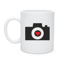 Кружка Фотоаппарат с сердцем