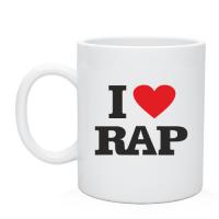 Чашка I love rap