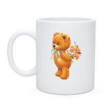 Кружка Медвежонок с цветами
