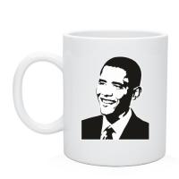 Чашка Обама монохром