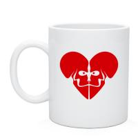 Чашка Сердце-череп