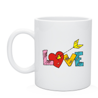 Кружка надпись love