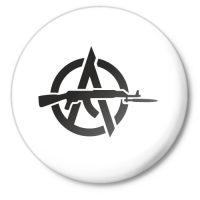Значок Анархия АК-47