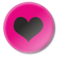 Значок Черное сердце