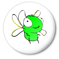 Значок Муха зеленая