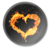 Значок Огненое сердце