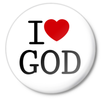 Значок i love god