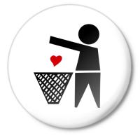 Значок сердце в мусорку