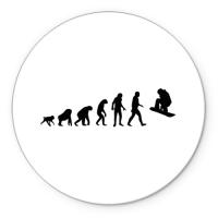 Коврик круглый Эволюция сноуборд