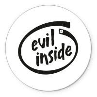 Коврик круглый Evil inside