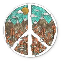 Коврик круглый Мир (Peace)