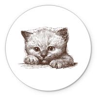 Коврик круглый Самый милый котёнок
