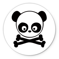 Коврик круглый Skull panda
