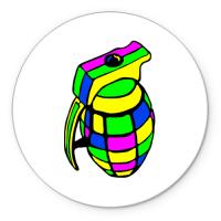 Коврик круглый Цветовая граната