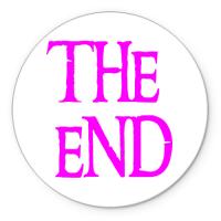 Коврик круглый The end