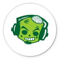 Коврик круглый Zombie DJ