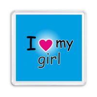 Магнит I love my girl heart
