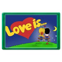 Магнит Love is logotip