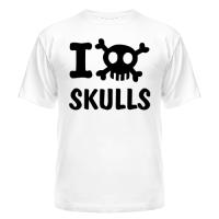 Футболка Love skulls