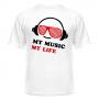 Футболка My music my life 1