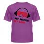 Футболка My music my life 10