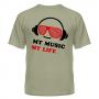 Футболка My music my life 12