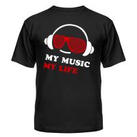 Футболка My music my life 2