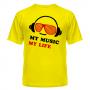 Футболка My music my life 4