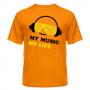 Футболка My music my life 6
