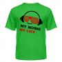 Футболка My music my life 8