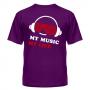 Футболка My music my life 9