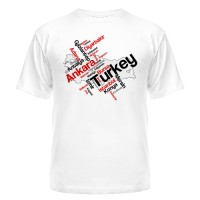 Футболка карта Турции