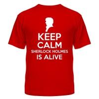 Футболки Keep calm Sherlock is alive, купить, Украина