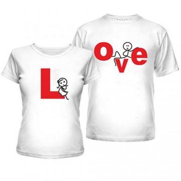 Парные футболки LOVE