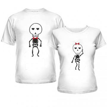 скелеты парные футболки